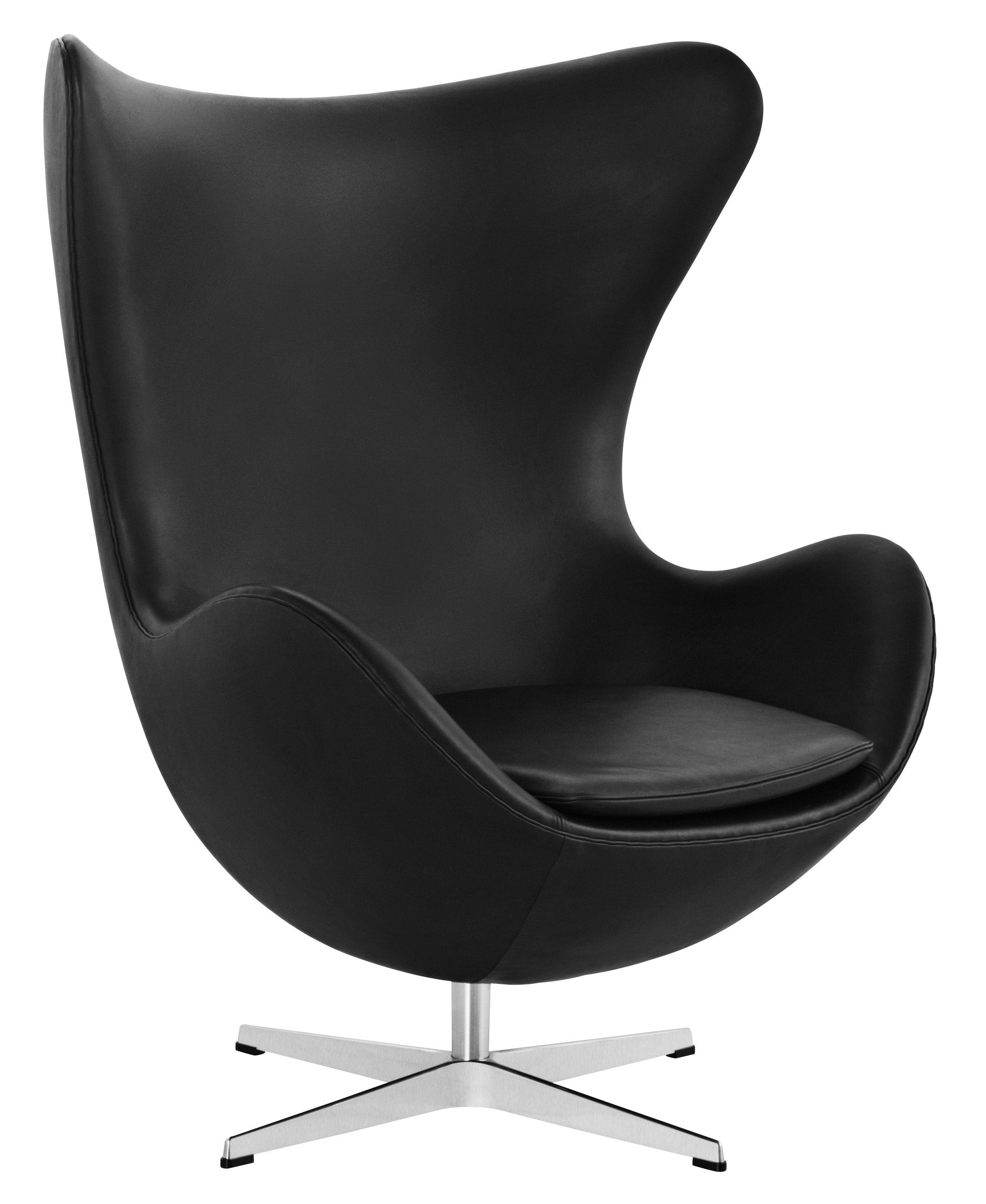 Egg Lounge Sessel Egg Chair Drehsessel Leder Fritz Hansen