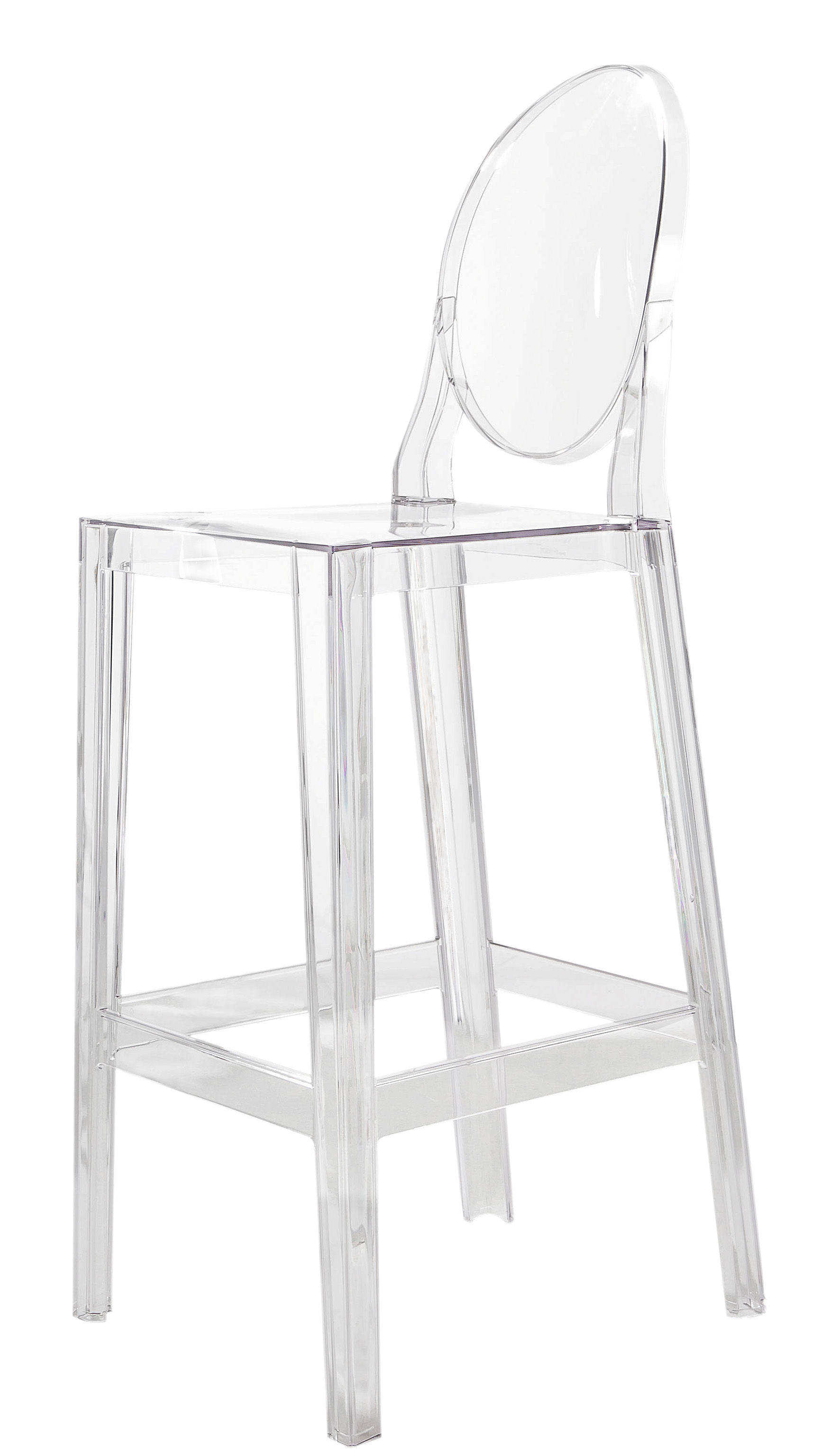 Tabouret Bar Plastique Chaise De Bar One More H 65cm Plastique Kartell