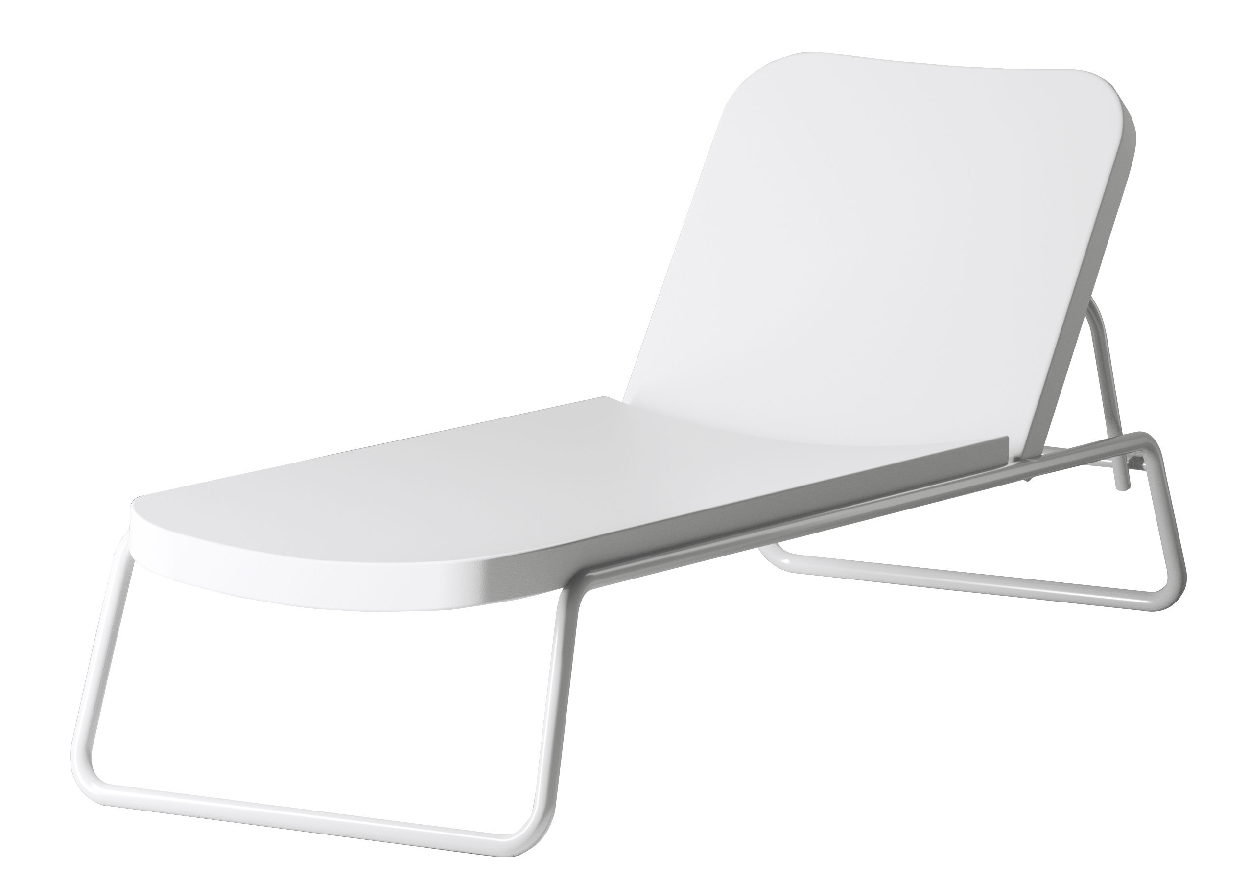 White Plastic Sun Loungers Time Out Sun Lounger Reclining By Serralunga