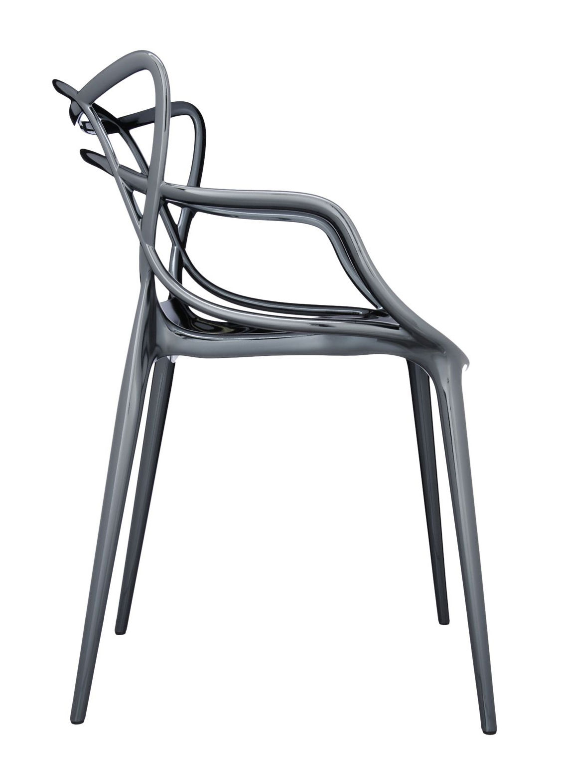 Chaises Masters Starck Fauteuil Empilable Masters Kartell - Gris/argent/métal