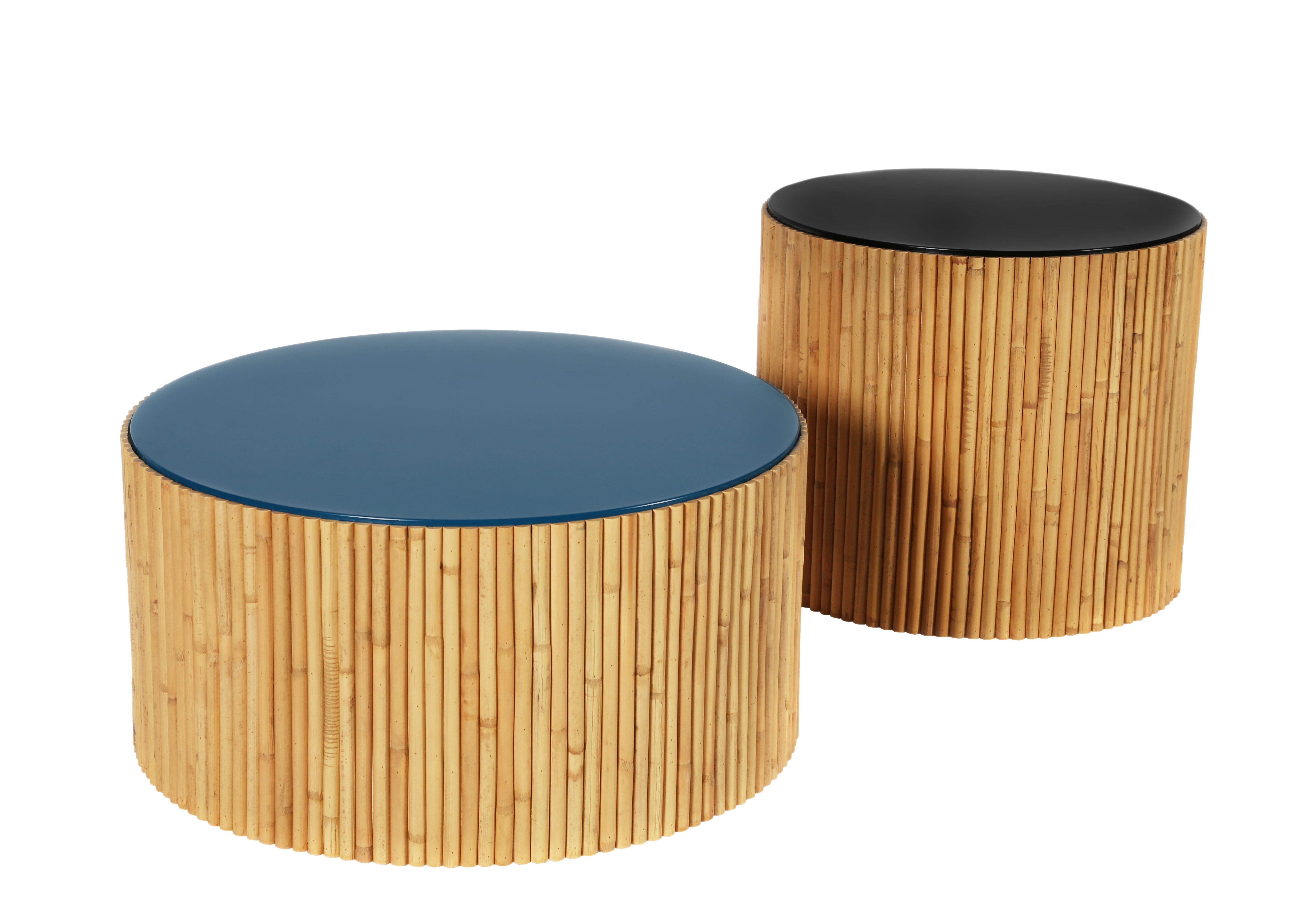 Tables De Salon En Rotin Table Basse Riviera Duo Set De 2 Ø 60 Ø 45 Cm Maison Sarah Lavoine
