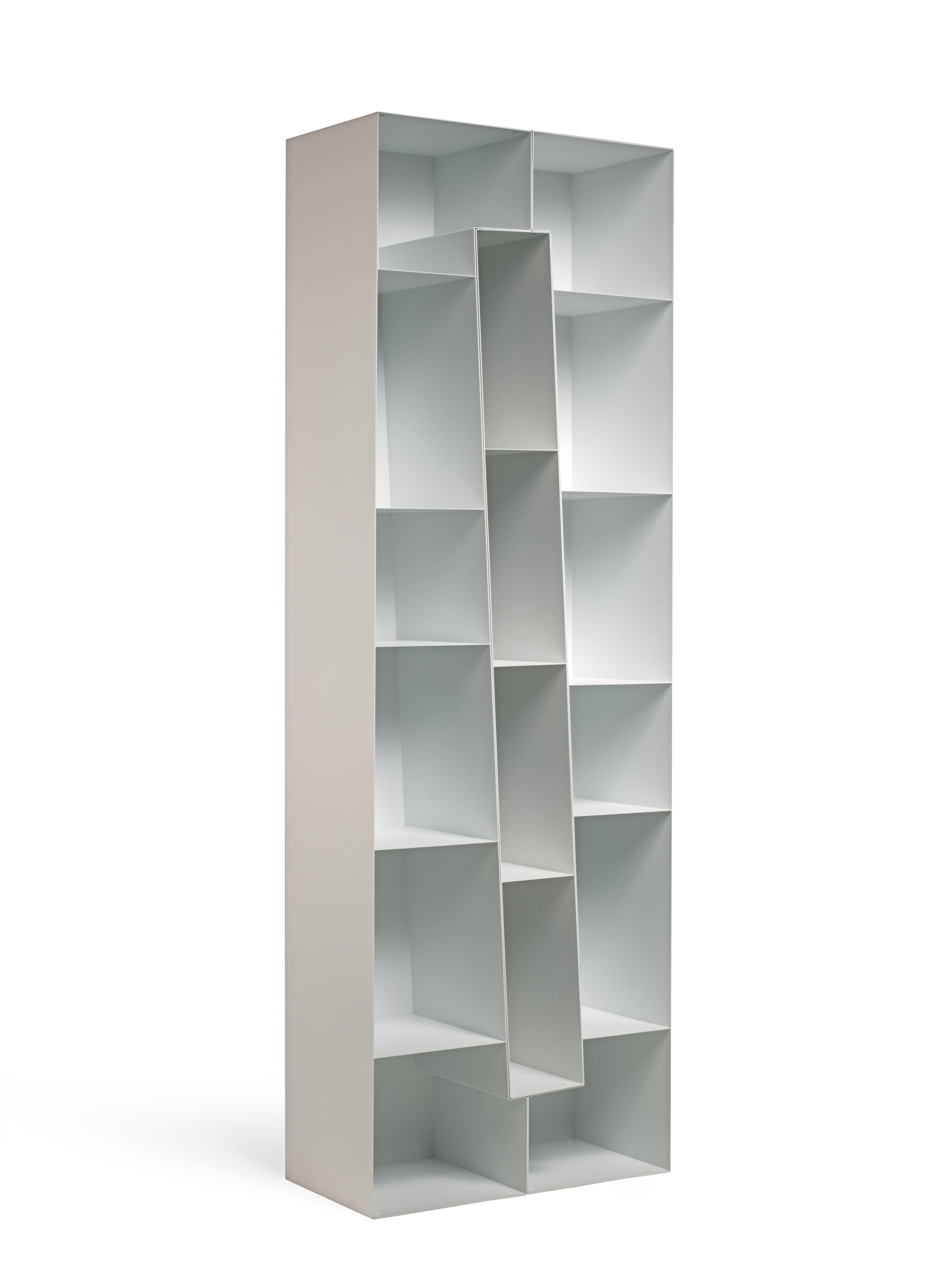 Bibliotheque 70 Cm Squilibri Evolution Bookcase Bookcase 1 Long Oblique Element With Open Back By Skitsch