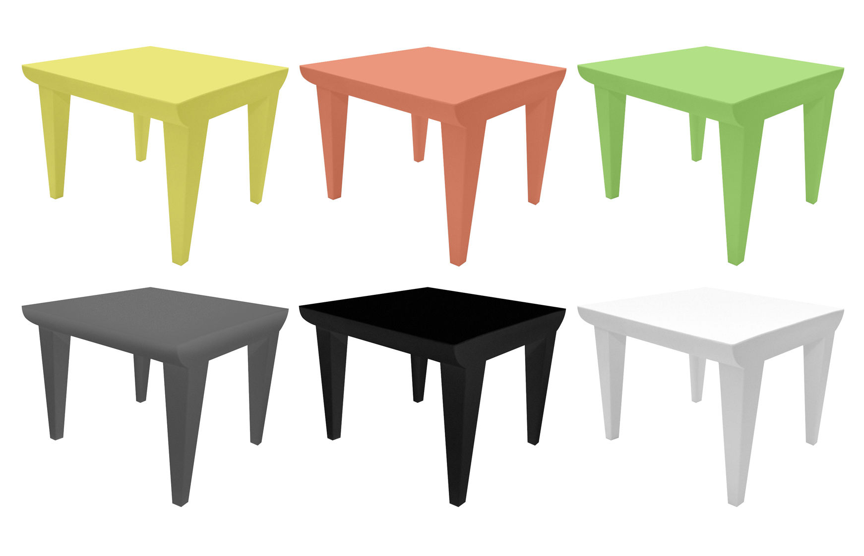 Made In Design Table Basse Table Basse Bubble Club Kartell Noir H 41 5 Made In