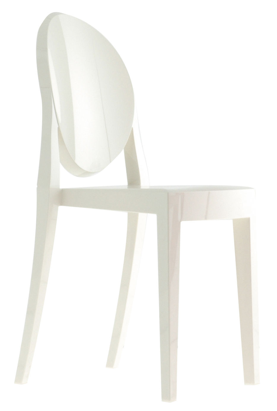 Chaises Plastiques Blanches Chaise Empilable Victoria Ghost Opaque Polycarbonate Kartell