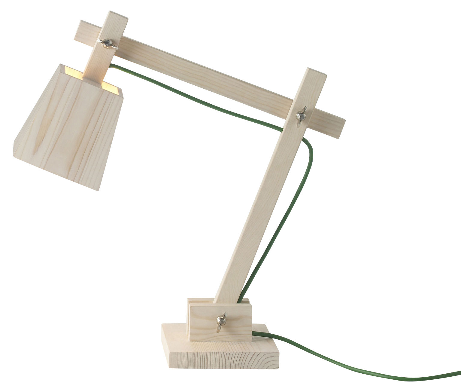 Lampe De Table Verte Lampe De Table Wood Lamp Bois Fil Vert Muuto