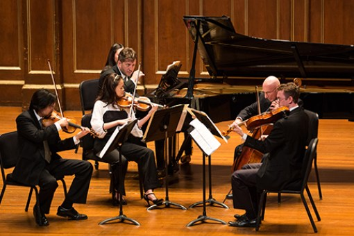 [Thomas Ades with the Boston Symphony Chamber Players]