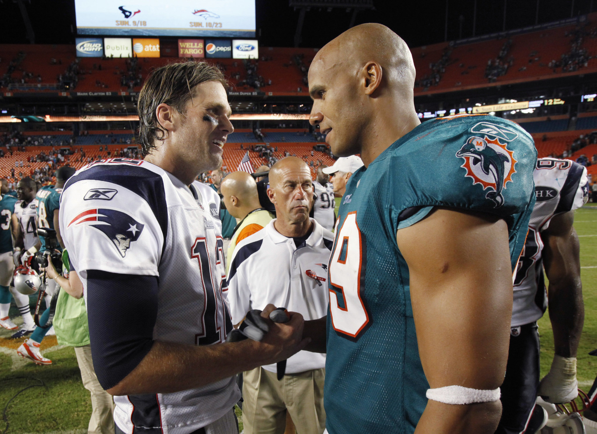 Www Tom Taylor De Tom Brady Floored Longtime Patriots Rival Jason Taylor With