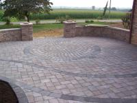 Custom paver patio with circle kit from Willow Gates ...