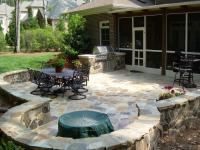 Great Outdoors: Furnish your backyard with Stone patios ...