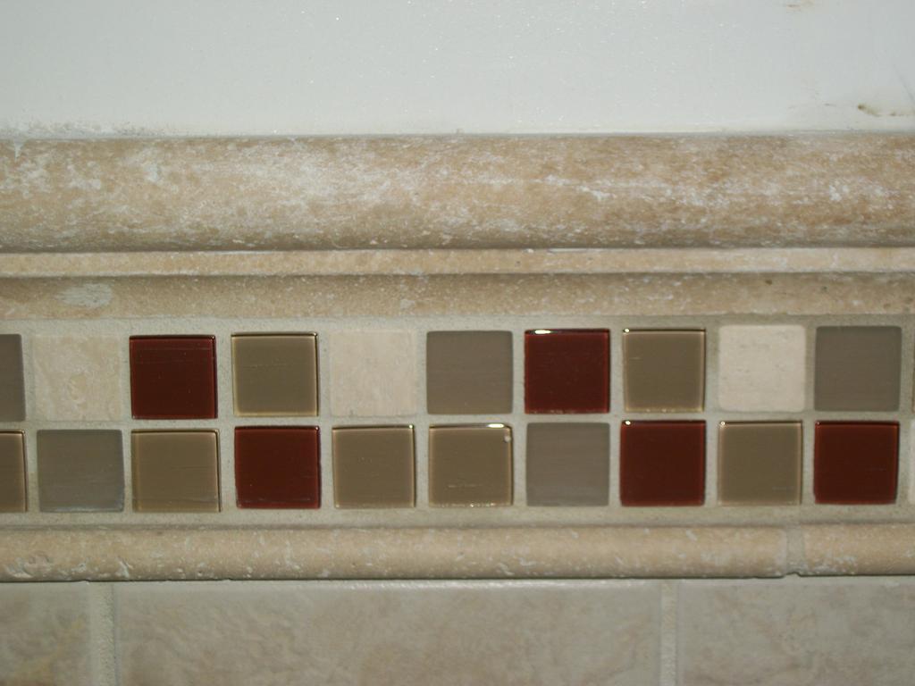 Custom Chair rail Bathroom tile designs and ideas from