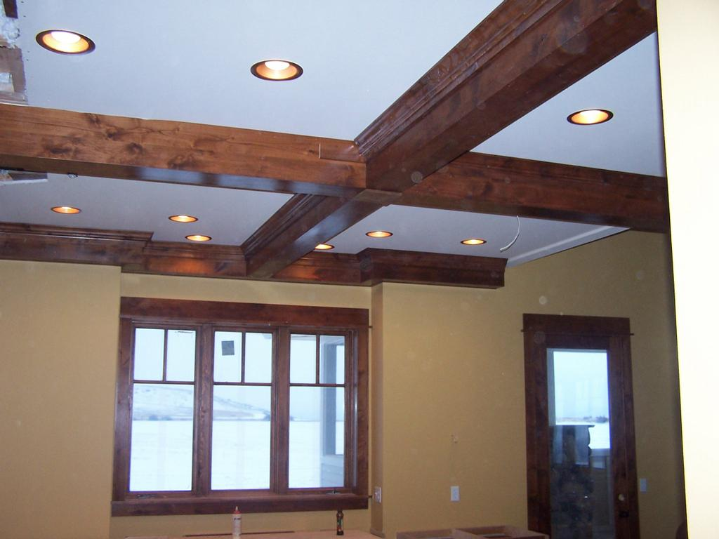 Rustic Ceiling The Gallery For Gt Rustic Wood Coffered Ceiling