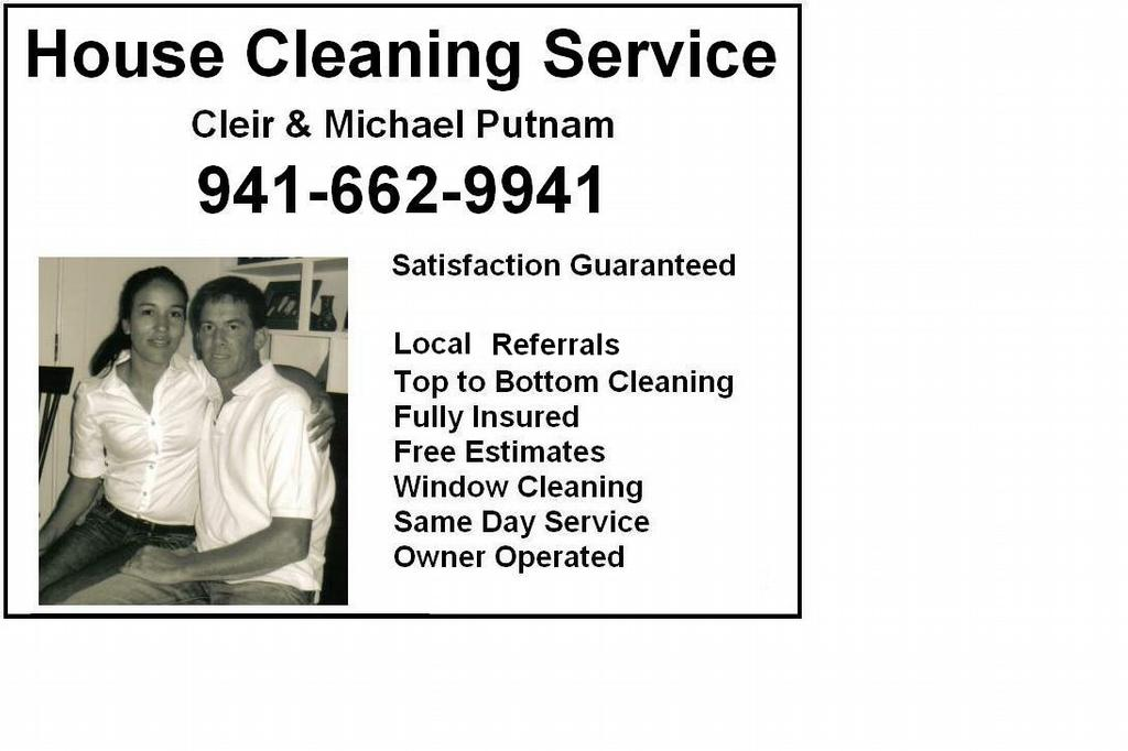 Cleir  Mike\u0027s Ad from Michael Putnam Cleaning Service in Venice, FL