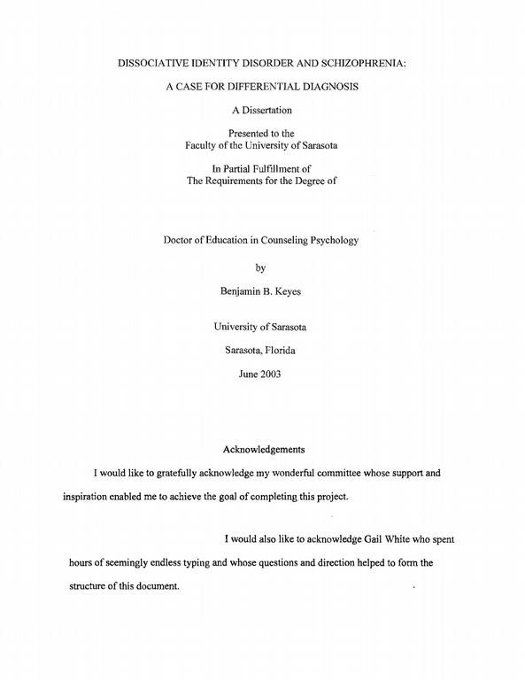 Samples For Dissertation Introduction