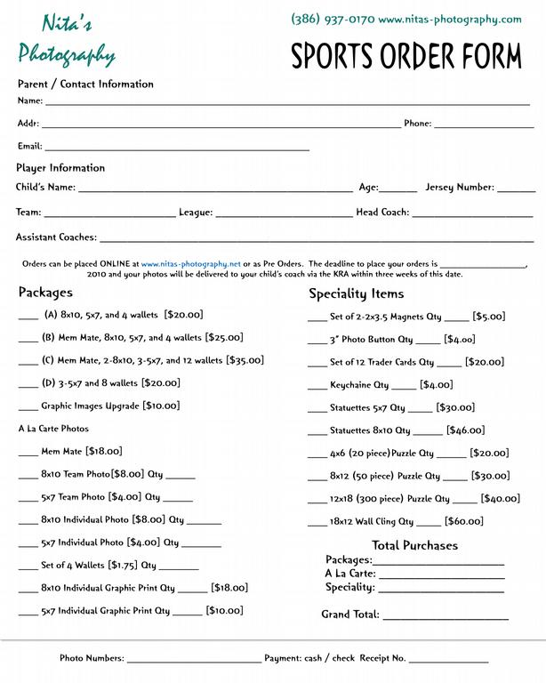sports-order-form-front from Nita\u0027s Photography in Palatka, FL 32177