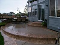 Amazing concrete patio by J's Custom Concrete Patios ...