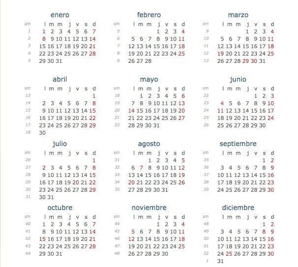 Calendario de Colombia en 2018 días festivos de este año