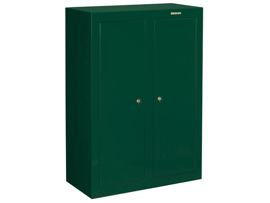 Stack On Convertible 16 Gun Double Door Security Cabinet Green