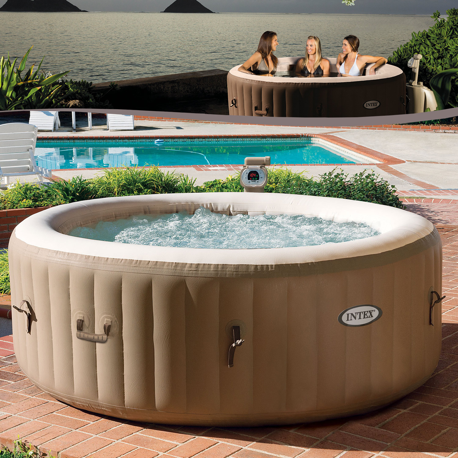 Jacuzzi In Pool Intex 128404 Whirlpool Spa Ø196x71cm Pool Bathtub Jacuzzi