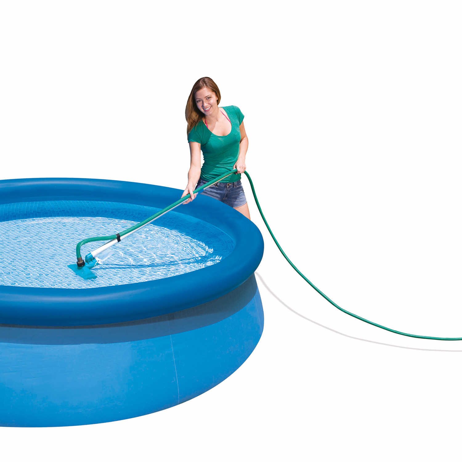 Pool Reinigungsset Video Intex Skimmer 28002 Pool Reinigungsset Bodensauger Kescher