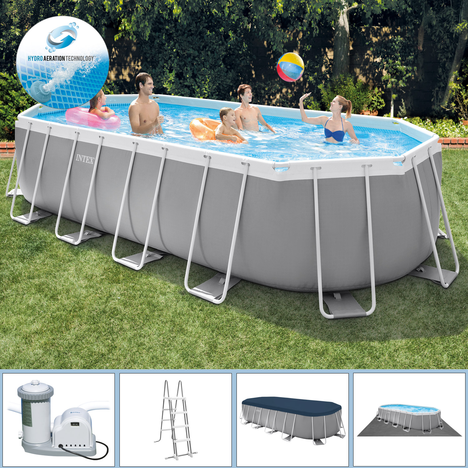 Intex Pool Reinigen Vor Winter Details Zu Intex Swimming Pool 610x305x122 Frame Pool Set Prism Oval Schwimmbecken