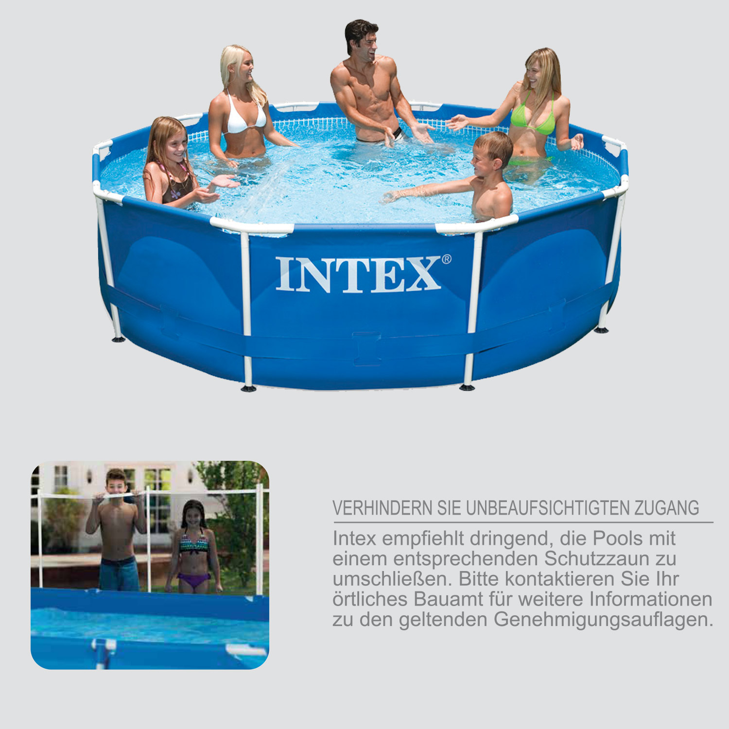 Pool Im Garten Intex Intex 305x76 Swimming Pool Frame Stahlwandbecken