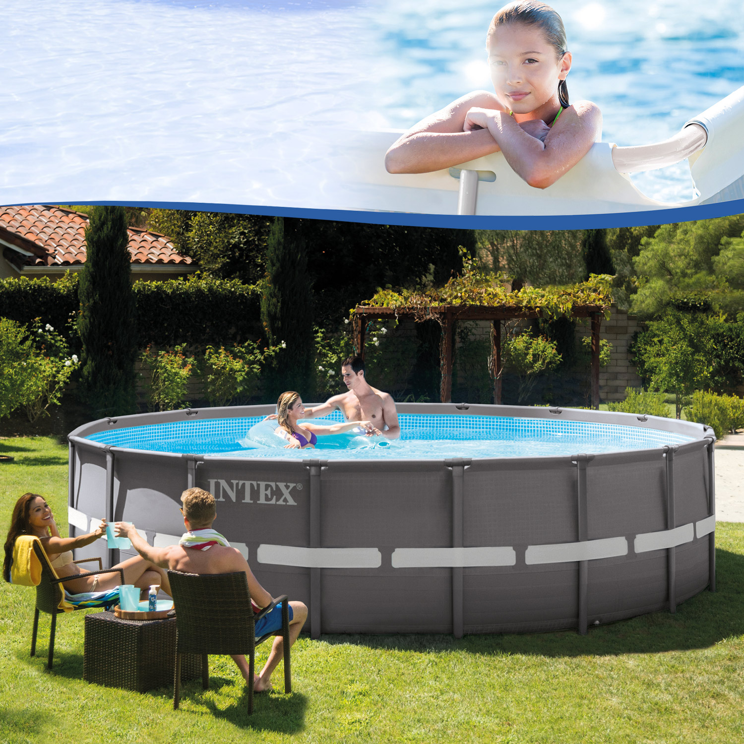 Intex Pool Ohne Filteranlage Intex 28907 Ersatzpool 488 X 122 Cm Swimming Pool Frame