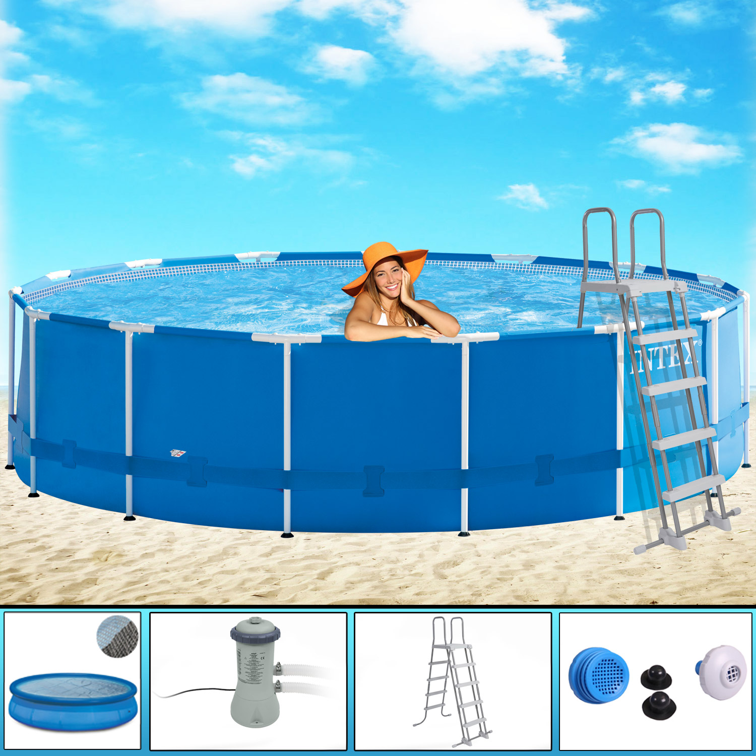 Solarfolie Pool Testsieger Intex Of Intex Frame Pool 457x122 Nacioncine