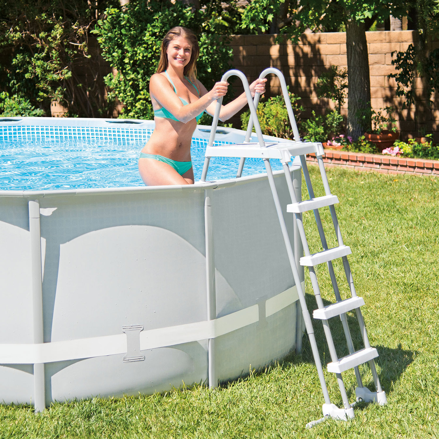 Pool Komplettset Intex Intex Swimming Pool Frame Ultra Rondo 488x122 Cm Komplettset