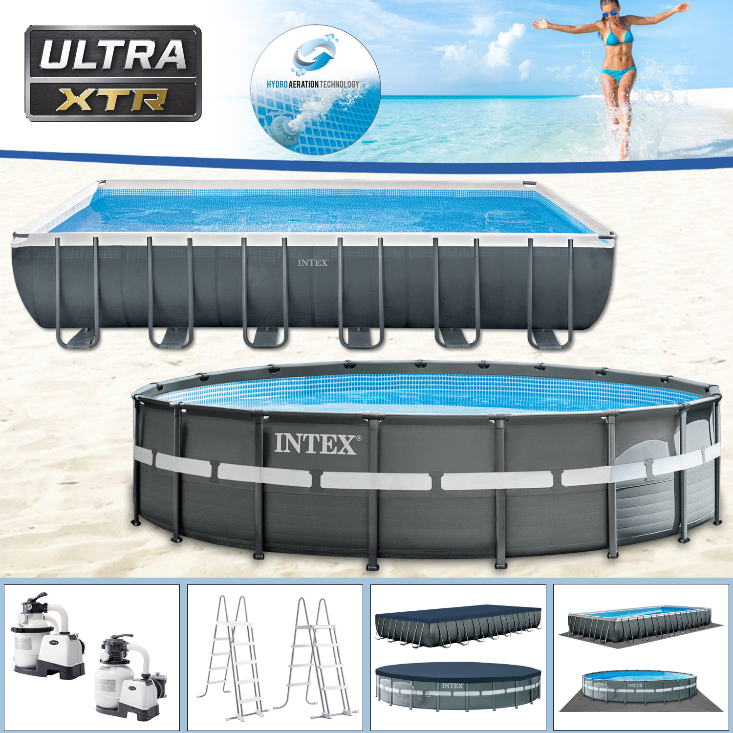 Pool Reinigen Und Abbauen Intex Swimming Pool Frame Pool Set Ultra Xtr