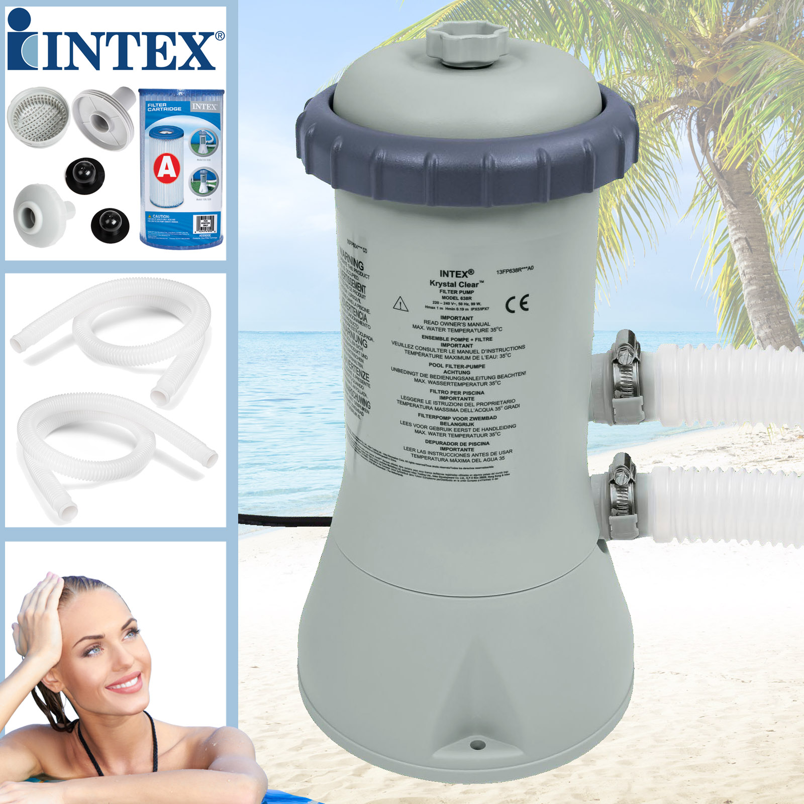 Pool Filterpumpe Lautstärke Details Zu Intex 2271 L H Swimming Pool Pumpe Filterpumpe Poolpumpe 1 Filter Schwimmbad