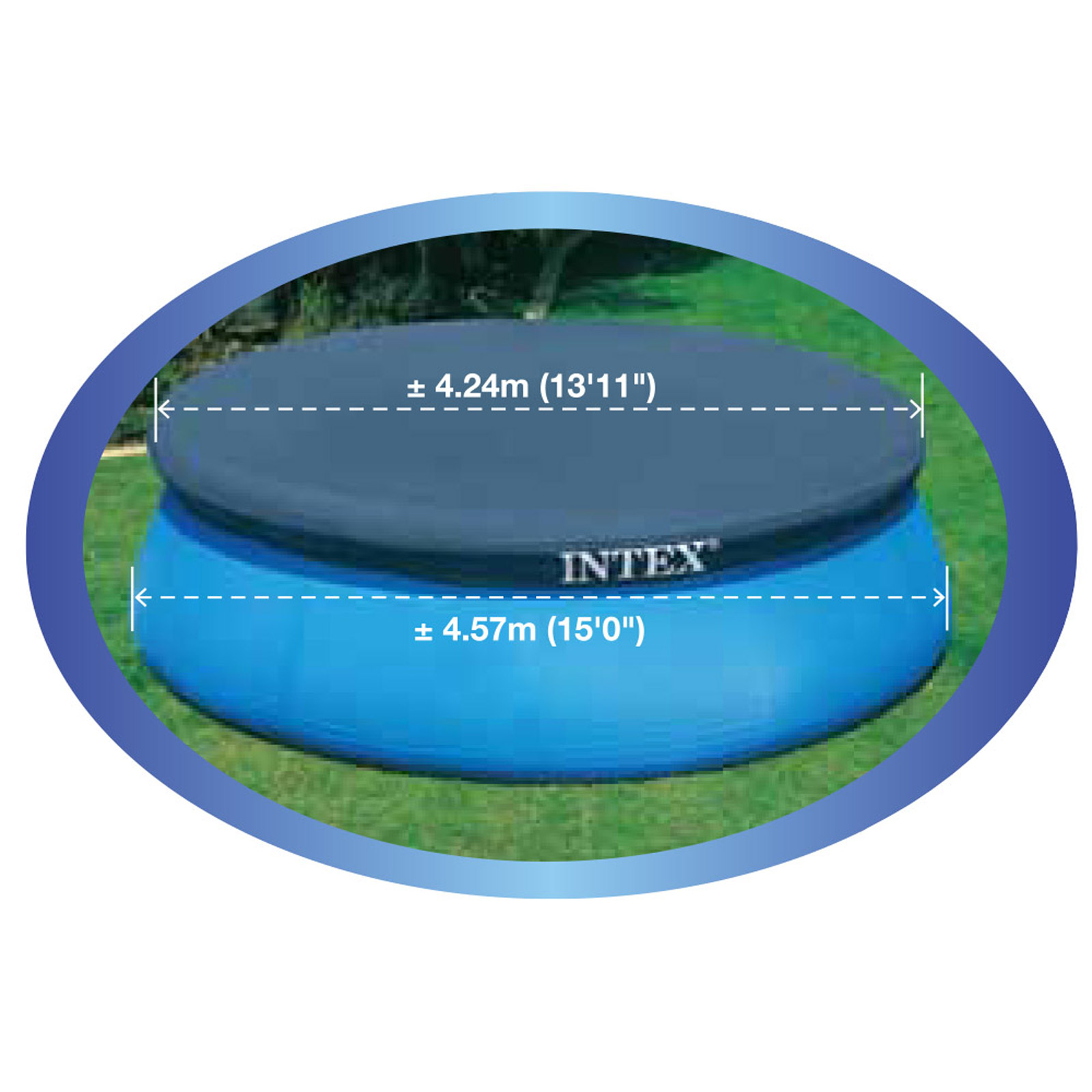 Abdeckplane Pool Steinbach Intex Ø 457 Cm Abdeckplane Easy Set Pools Für Pool