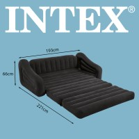 INTEX Sofa Lounge Luftbett 193x231x71cm Couch ausziehbar 68566