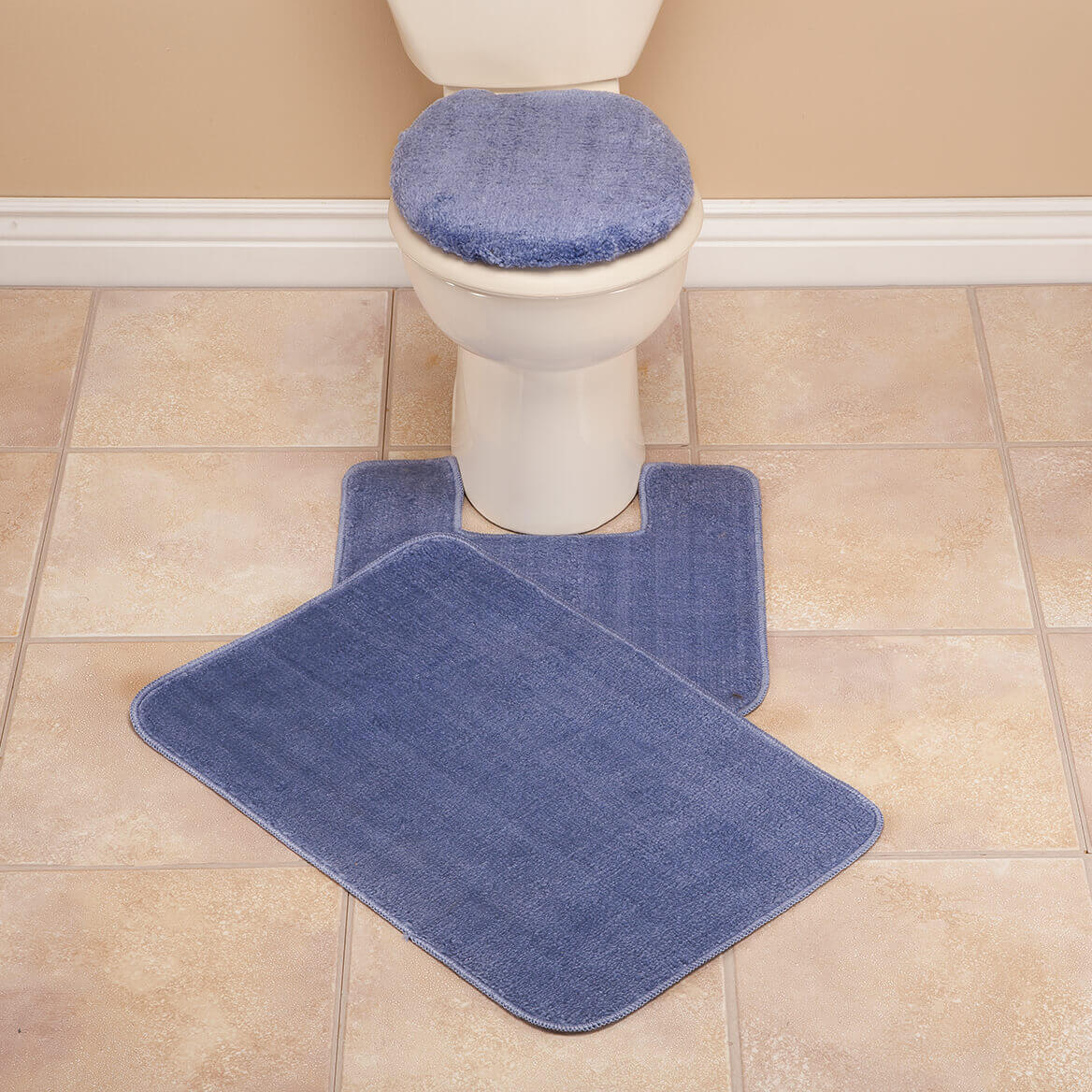 Bathroom Mat Sets Plush Bath Rug Set Toilet Seat Cover And Rug Set Miles