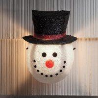 Snowman Porch Light Cover