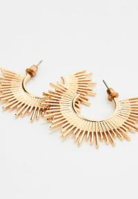 Gold Spike Earrings | Missguided