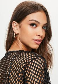 Gold Thick Hoop Earrings | Missguided