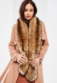 Brown Faux Fur Scarf | Missguided
