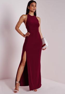 Small Of Burgundy Maxi Dress
