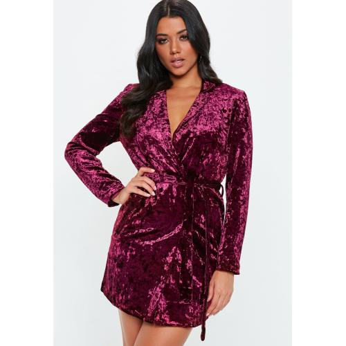 Medium Crop Of Velvet Wrap Dress