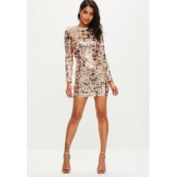 Groovy Previous Next Rose G Sequin Bodycon Dress Missguided Opstylebrowse Fts G Sequin Dress G Sequin Dress Long Sleeve wedding dress Gold Sequin Dress