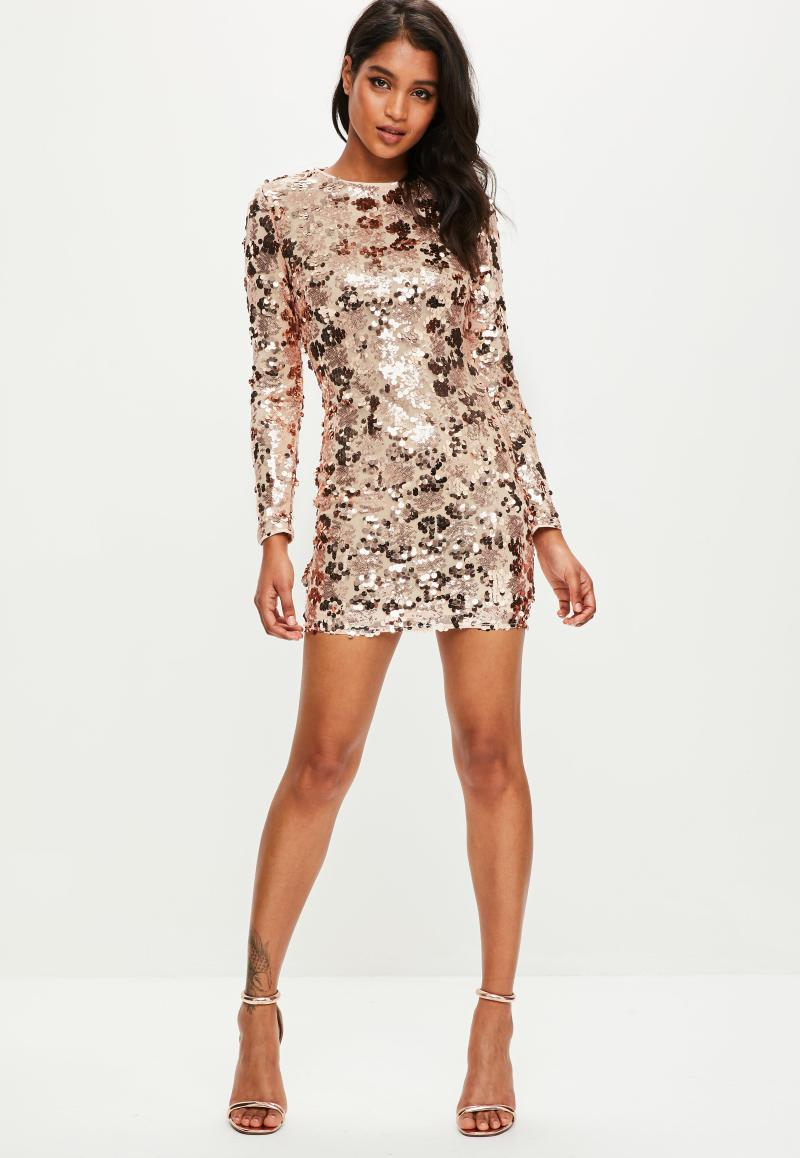 Large Of Gold Sequin Dress
