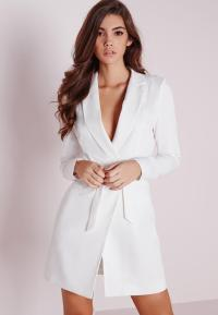 Petite D-Ring Blazer Dress White | Missguided