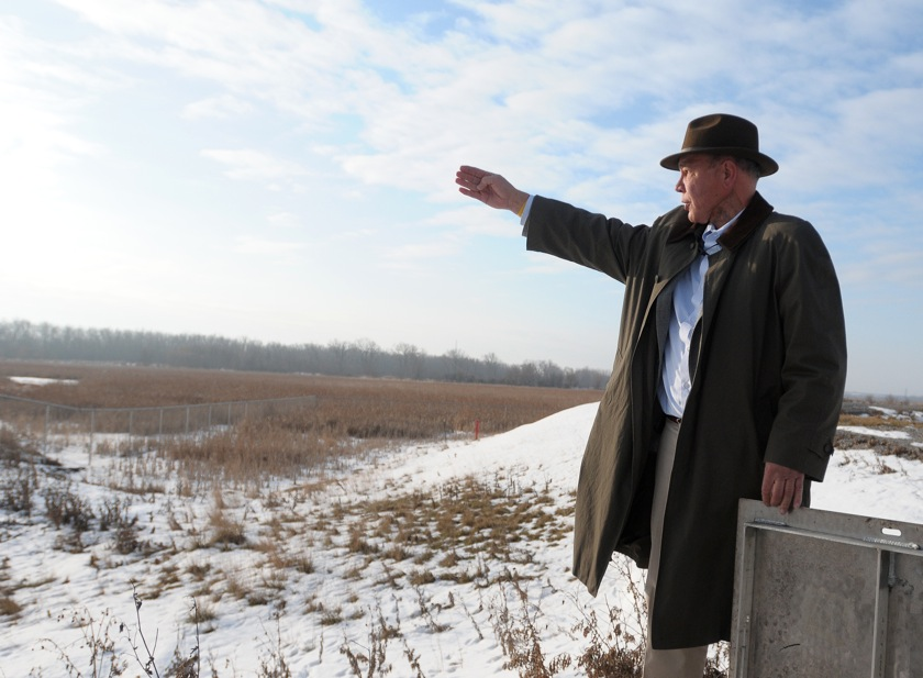 Saginaw River spoils site flooded backyards last year, but has been