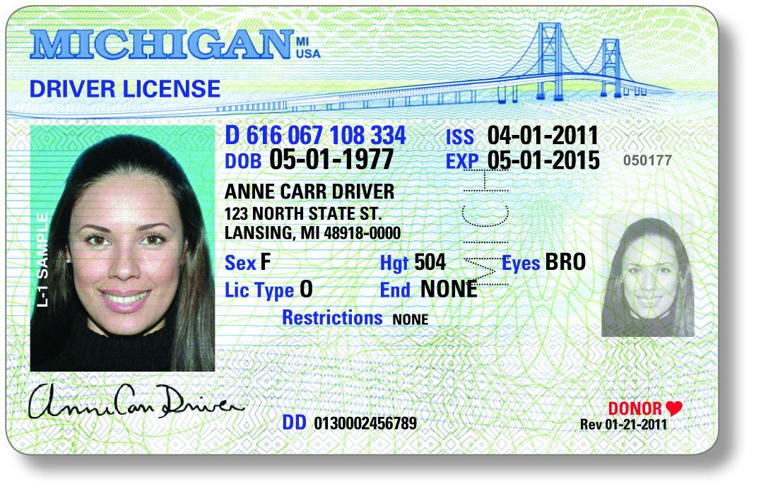 Michigan drivers license to sport new look, added security features