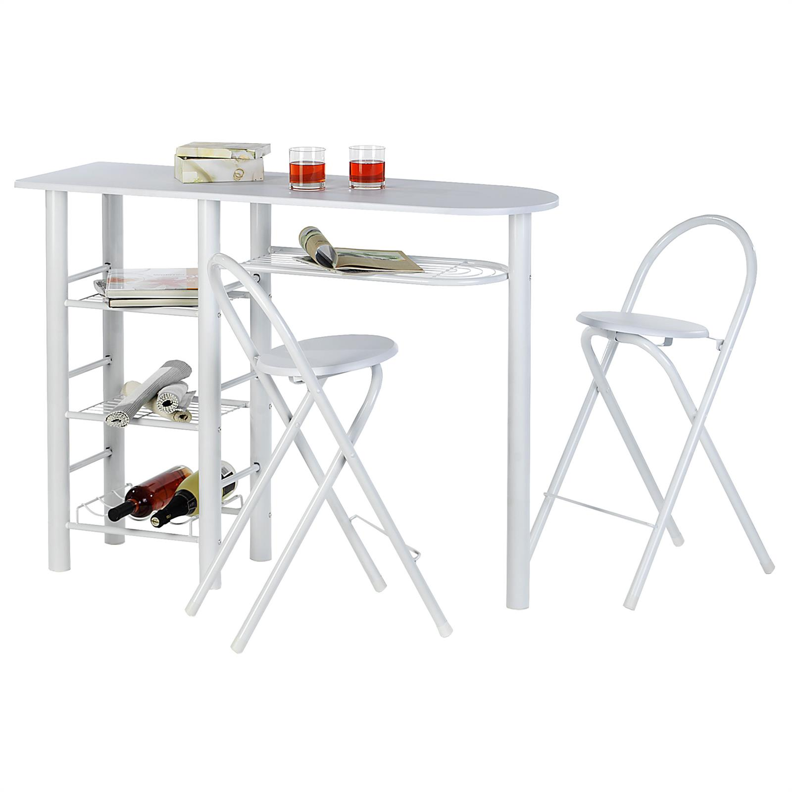 Ensemble Table Haute Et Chaise Ensemble Table Haute De Bar Et 2 Chaises Style Blanc Mat