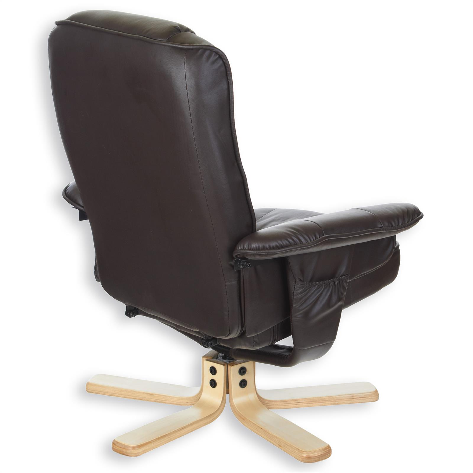 Braun Sessel Relaxsessel Mit Hocker Charly Polstersessel In Braun