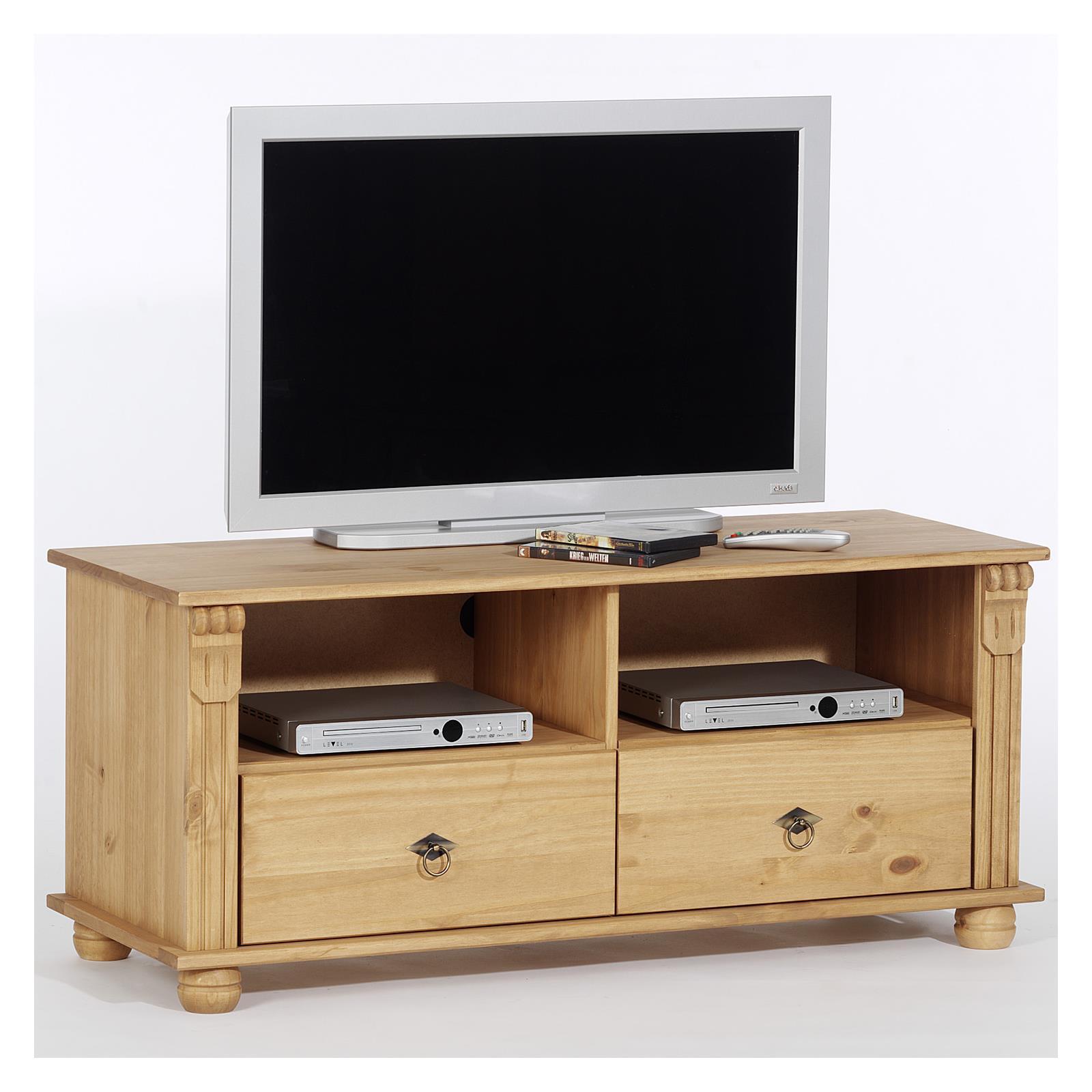 details zu lowboard tv mobel phonomobel tv rack medienmobel hifi tisch phonotisch kiefer