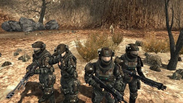 Halo Wallpaper Fall Of Reach Unsc Marines Image Winter Contingency Mod For Call To