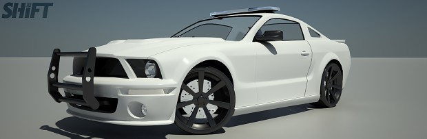 Test 1 Future Jobs 2005 Ford Mustang Police Interceptor White Old Image