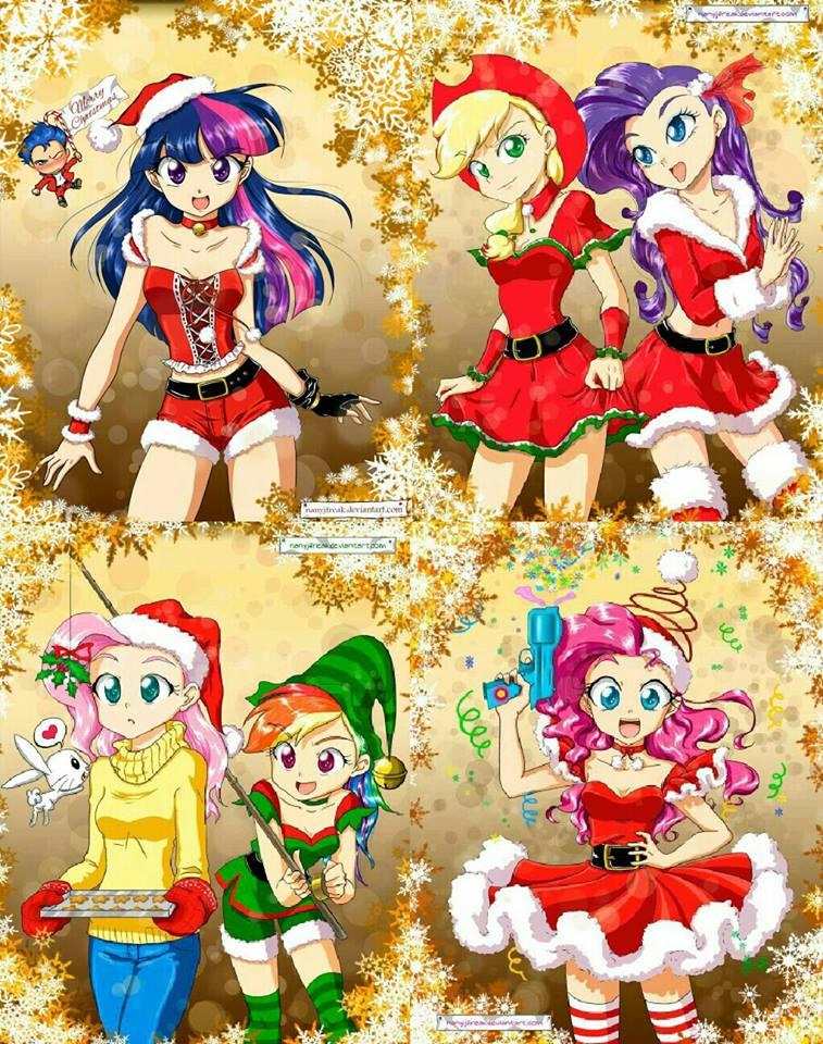 Equestria Girls Android Wallpaper Mane 6 Humanized Christmas Image Bronies Of Moddb Mod Db